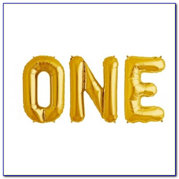 Small Gold Letter Balloons