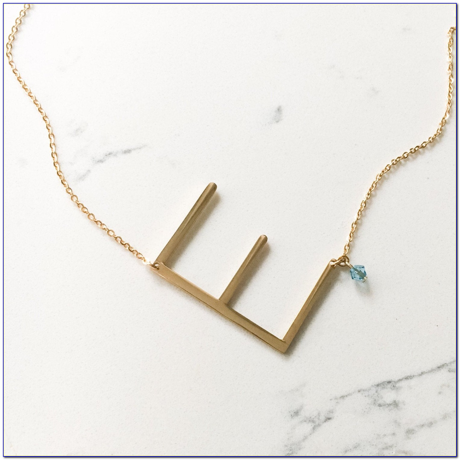 Small Sideways Letter Necklace