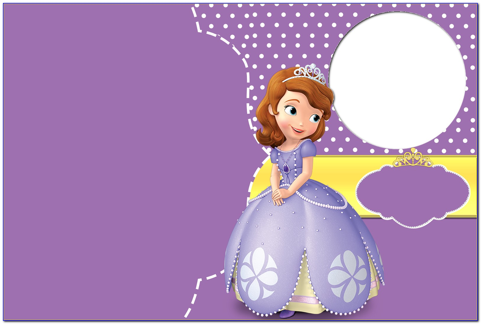 Sofia The First Birthday Invitations Free Template