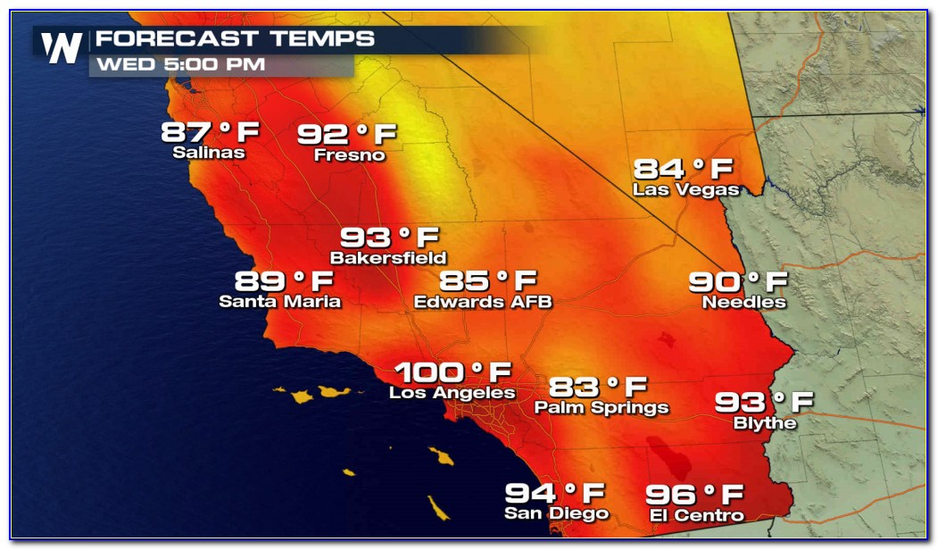 Southern California Weather Temperature Map