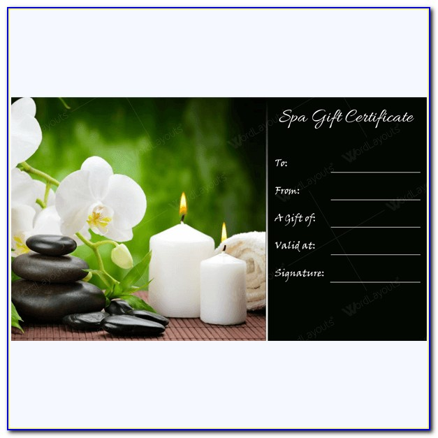 Spa Facial Gift Certificate Template
