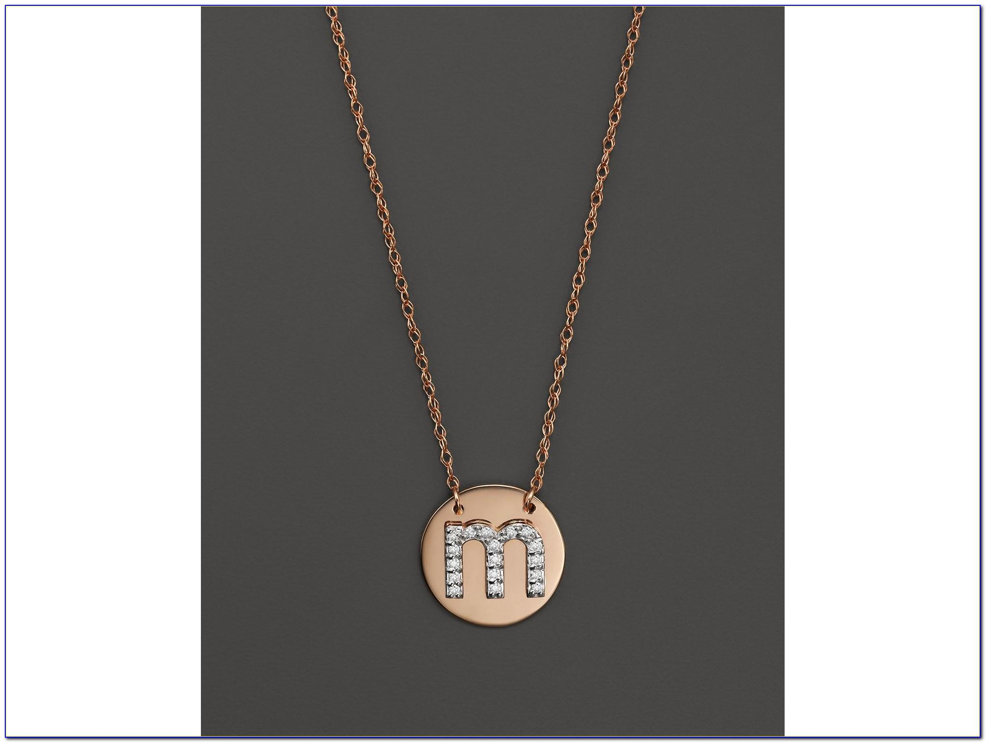Spaced Letter Necklace Canada