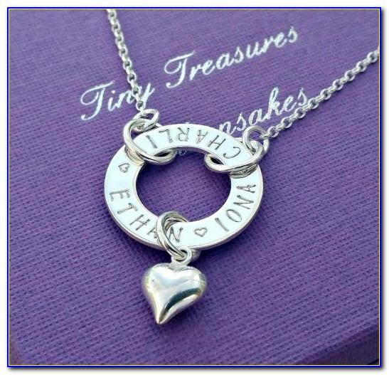 Spaced Letter Necklace Silver