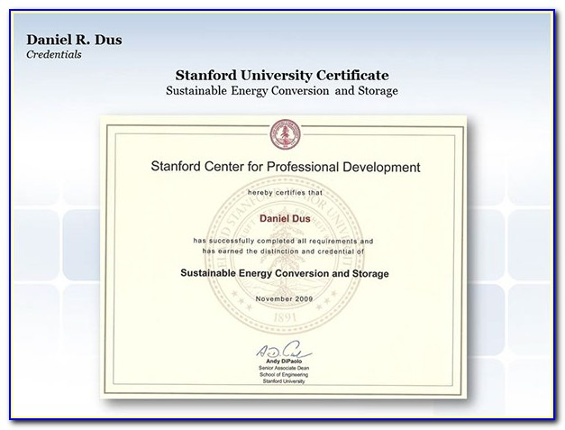 Stanford University Stanford California Data Mining And Applications Graduate Certificate