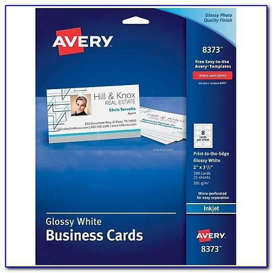 Staples Avery Business Card Pages