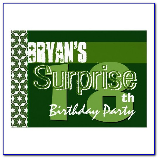 Surprise 18th Birthday Party Invitations