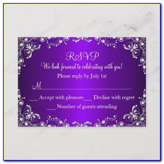 Sweet Sixteen Invitations With Rsvp Cards