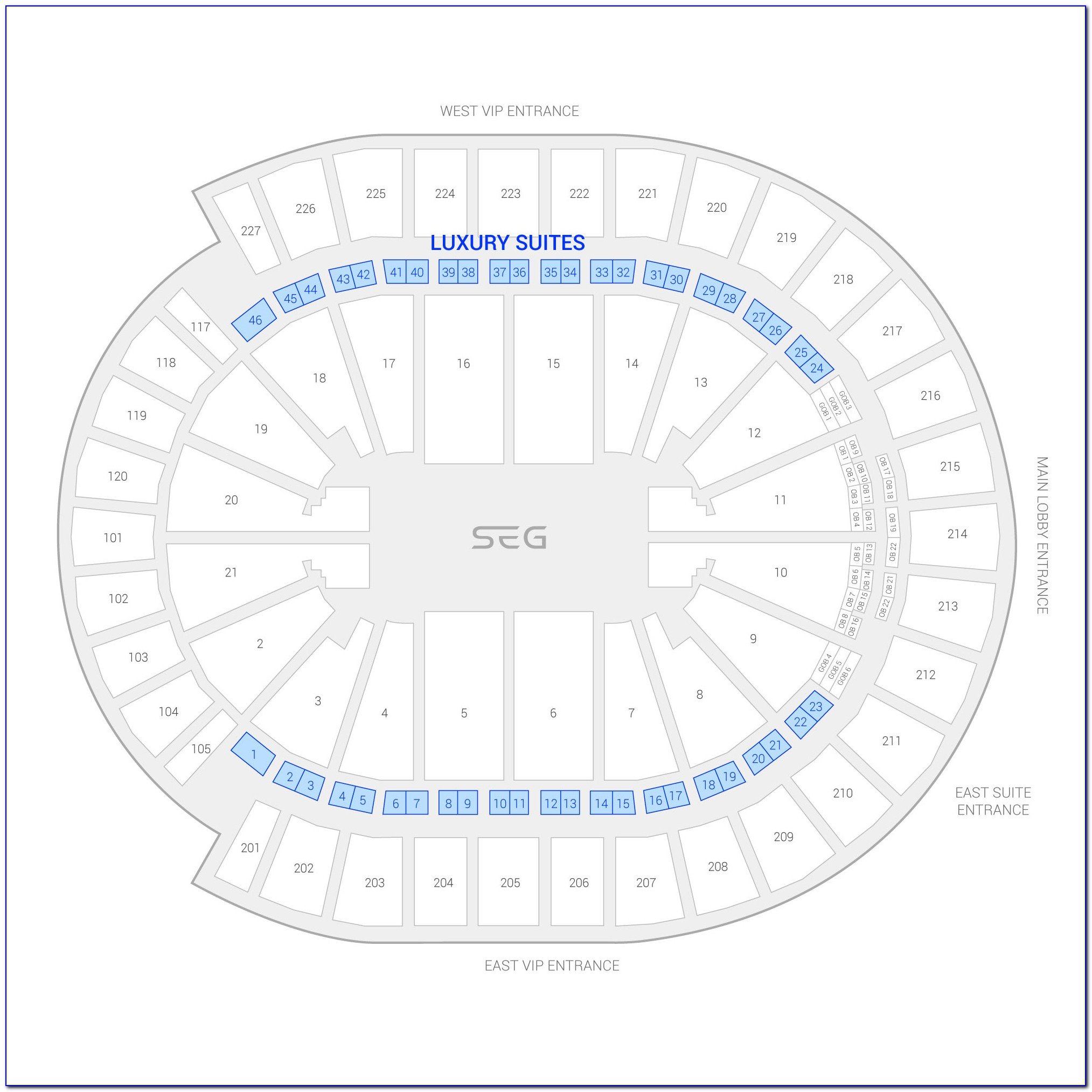 T Mobile Arena Seating Map With Seat Numbers