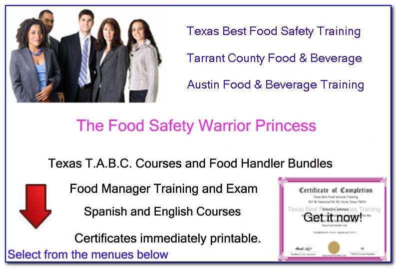 Tabc And Food Handlers Certification Discount