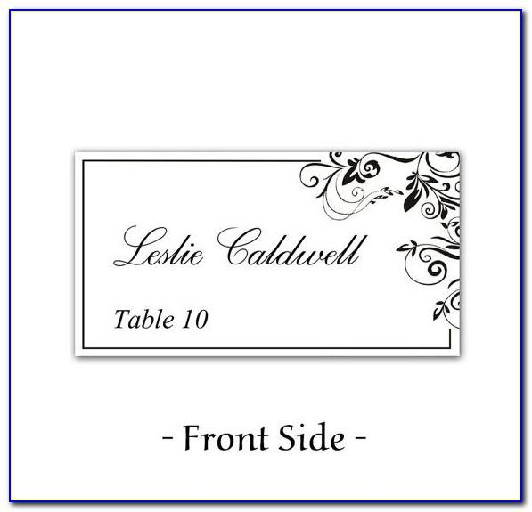 Table Card Template Free Download