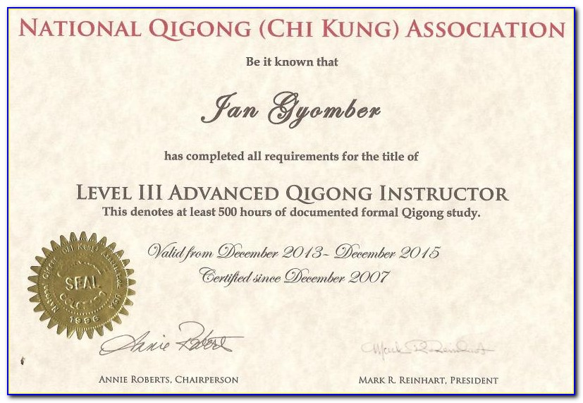 Tai Chi Instructor Certification Online