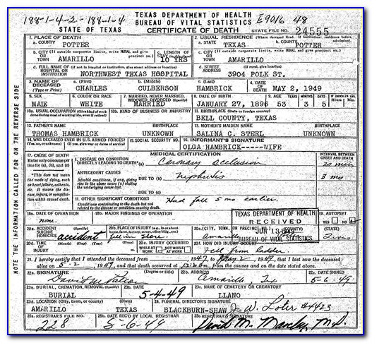 Tarrant County Birth Certificate Replacement