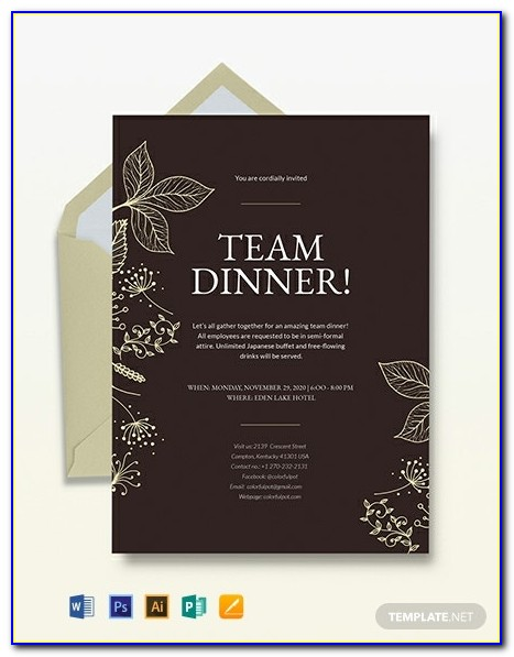 Team Lunch Invitation Email Reply