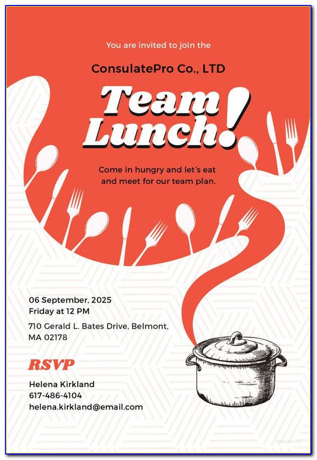 Team Lunch Invitation Images