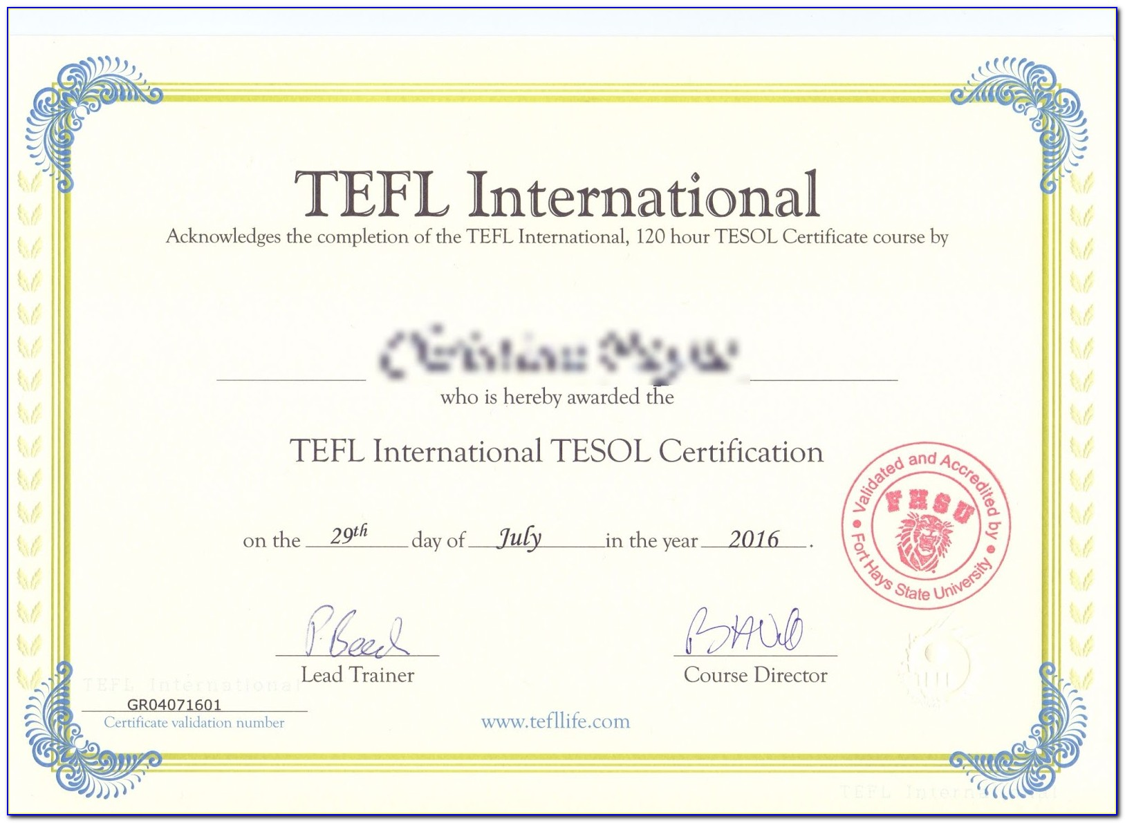 Tefl Certification Course In Chennai
