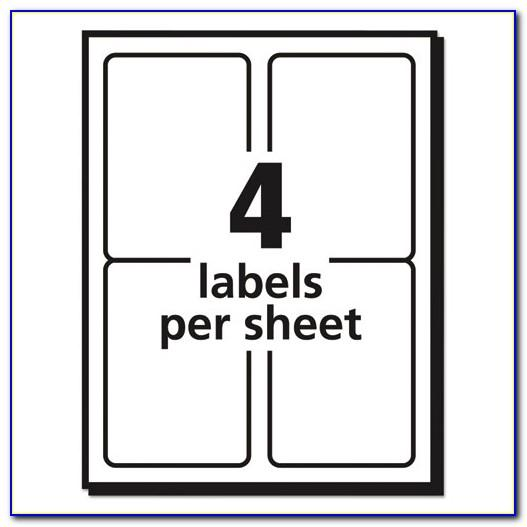 Template For Printing Labels 10 Per Sheet
