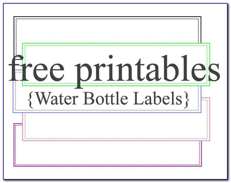 Template For Water Bottle Labels Free