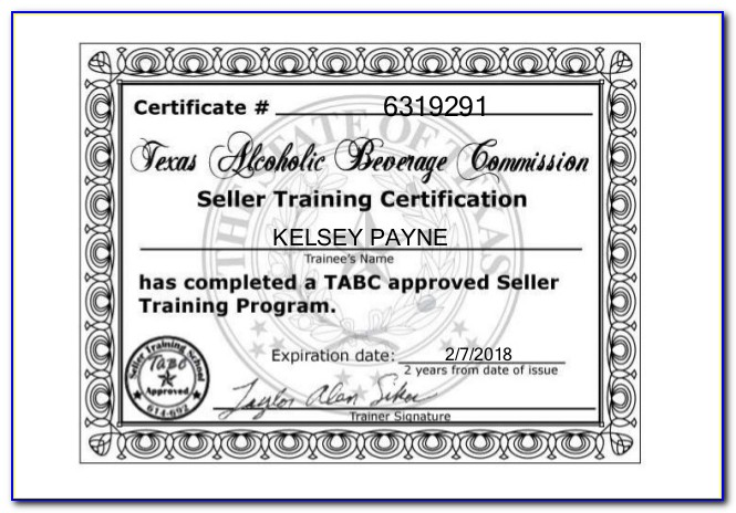 Texas Tabc And Food Handler Certification Online