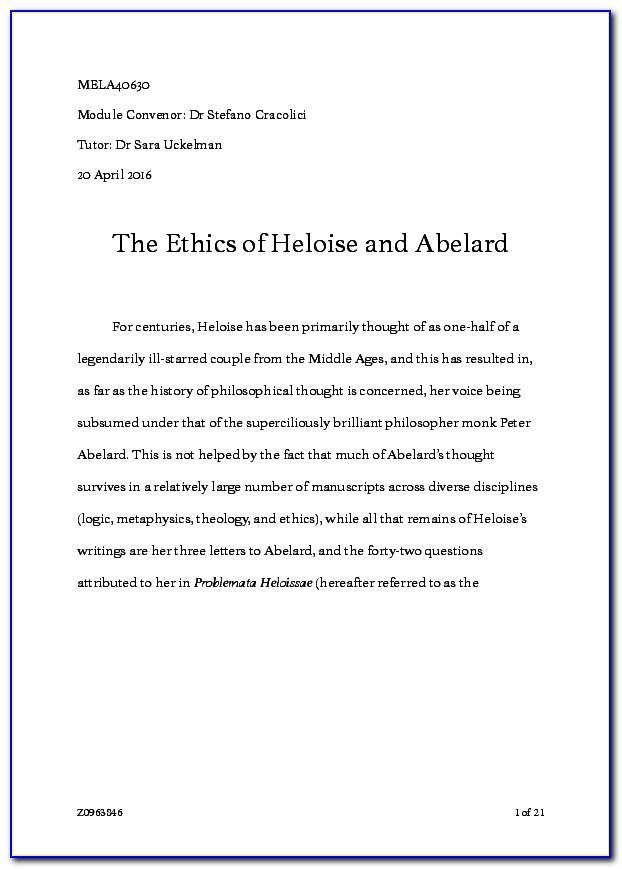 The Letters Of Abelard And Heloise Summary