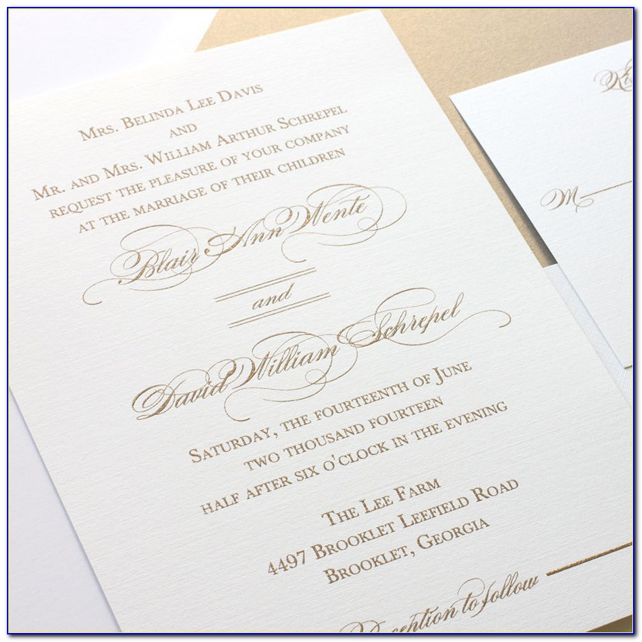 Thermography Wedding Invitations Online