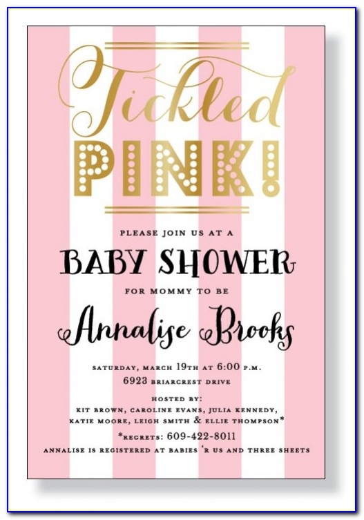Tickled Pink Invitations Free Shipping