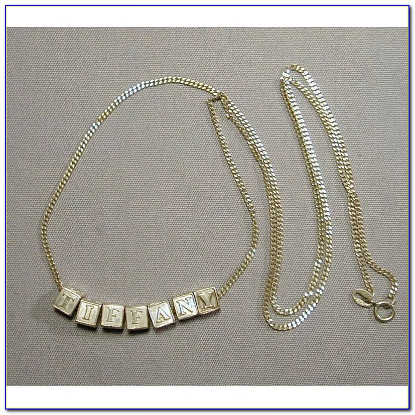 Tiffany Letter Necklace S
