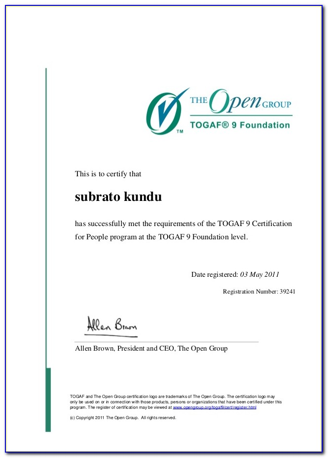 Togaf Certification Training Cost