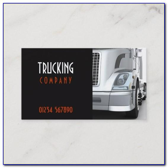 Trucking Business Cards Designs