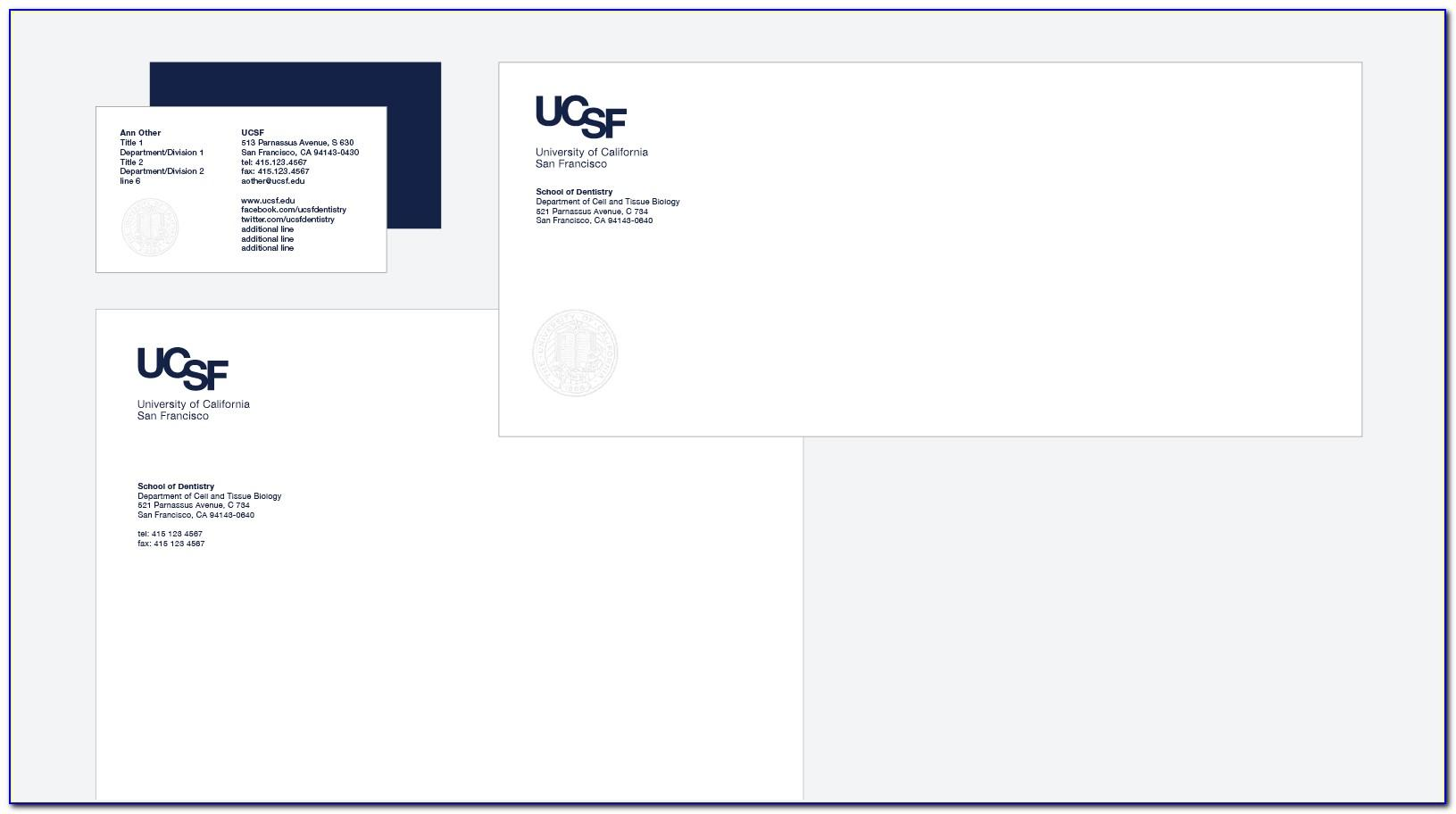 Ucsf Printing Business Cards