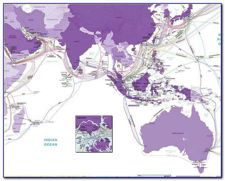 Undersea Cable Map Internet