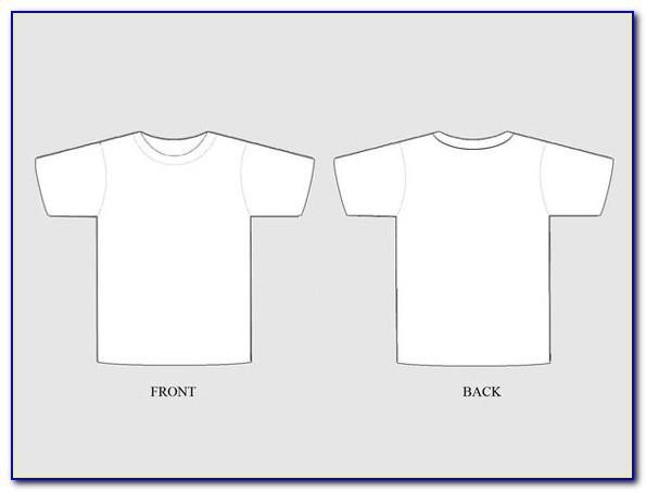 Vector T Shirt Template For Photoshop Free Download