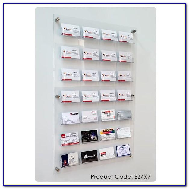 Vertical Wall Mount Business Card Holder Display
