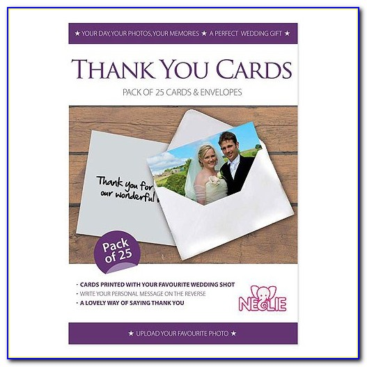 Vistaprint Personalised Wedding Thank You Cards