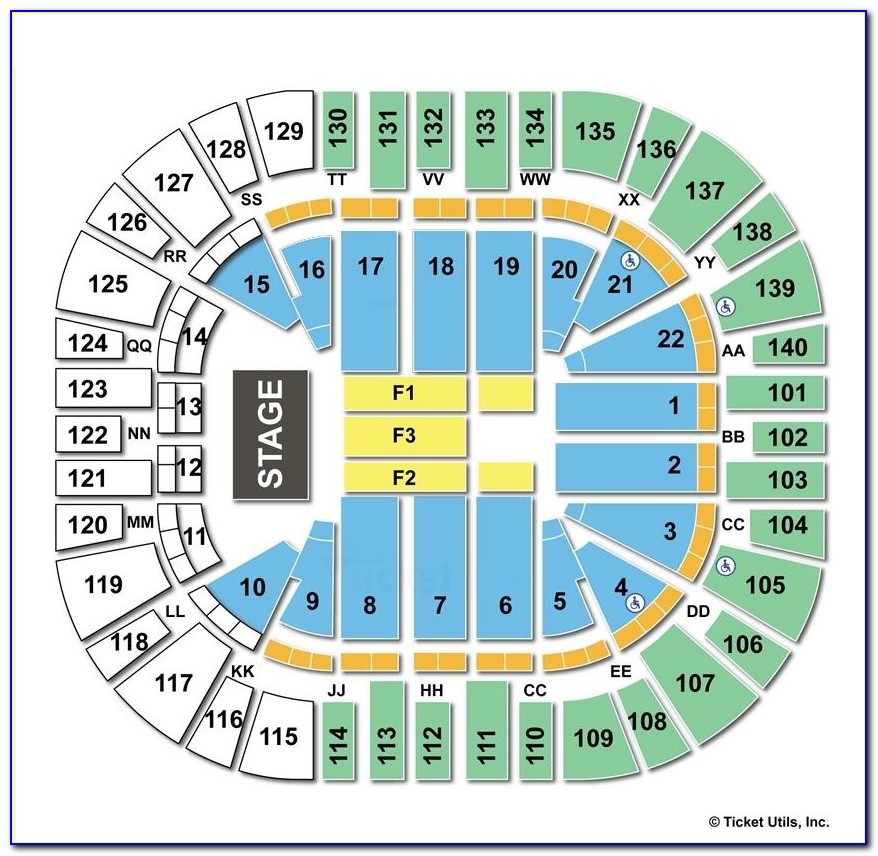 Vivint Smart Home Arena Seating Chart With Seat Numbers