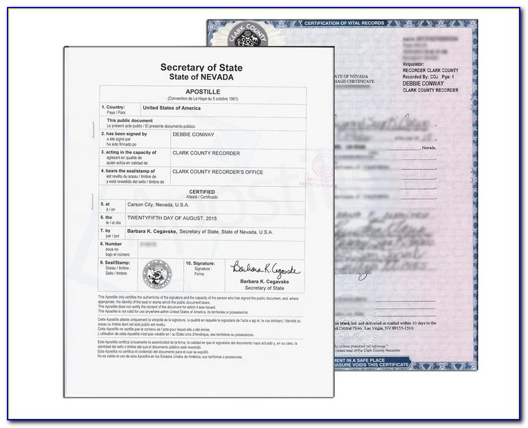 Washoe County Marriage Certificate Copy