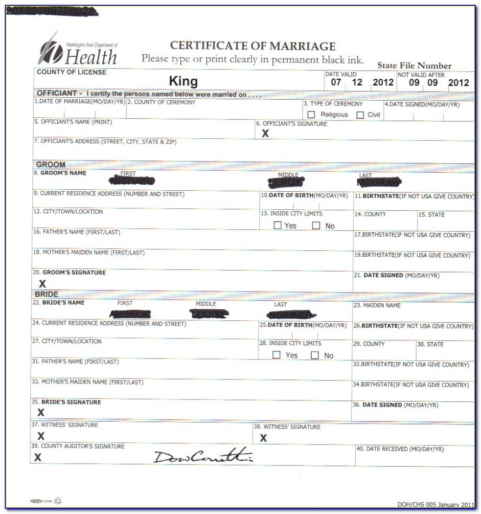Washoe County Marriage License Search