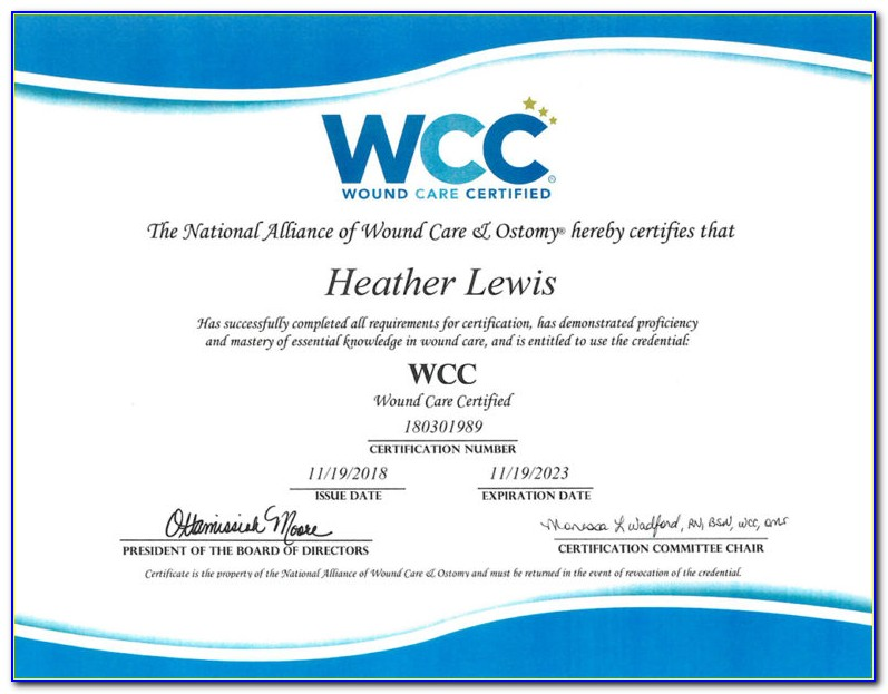 Wcc Wound Care Certification