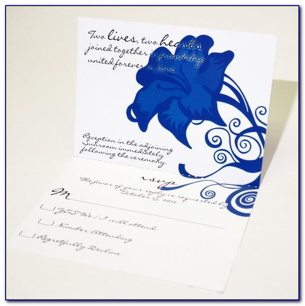 Wedding Invitations And Rsvp Cards All In One