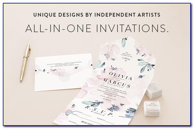 Wedding Invitations And Rsvp Cards In One