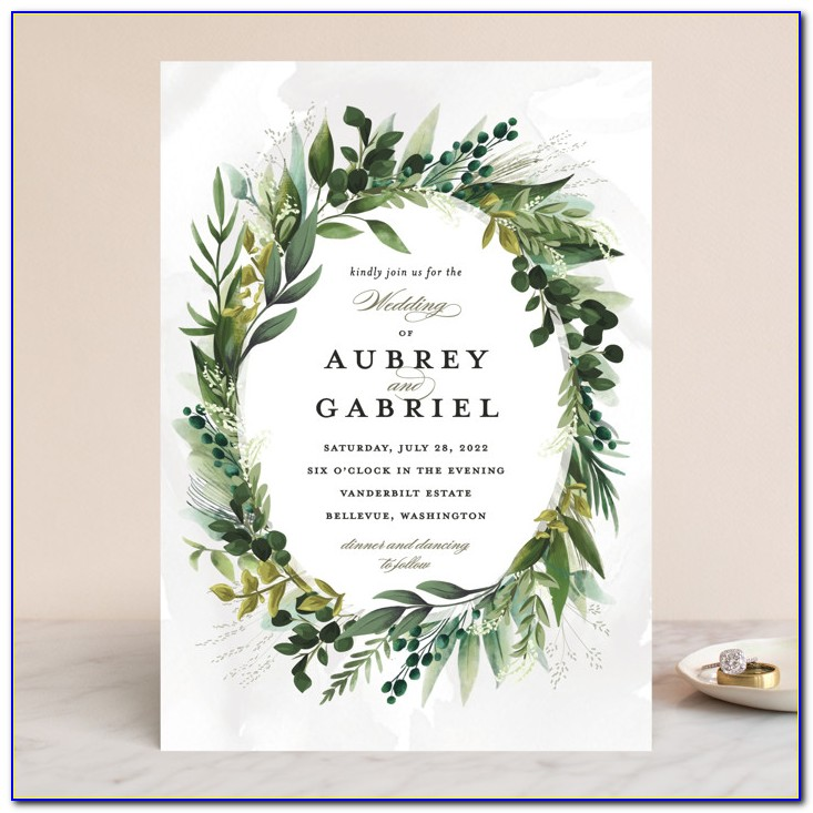 Wedding Invitations Green And Gold