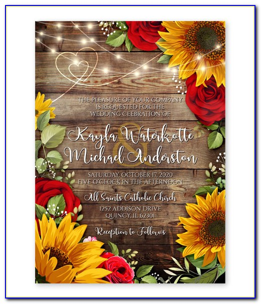 Wedding Invitations With Roses Design