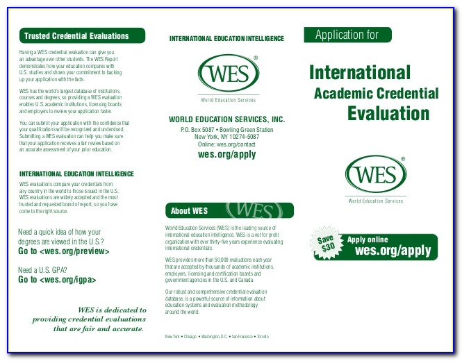 Wes Education Evaluation Validity