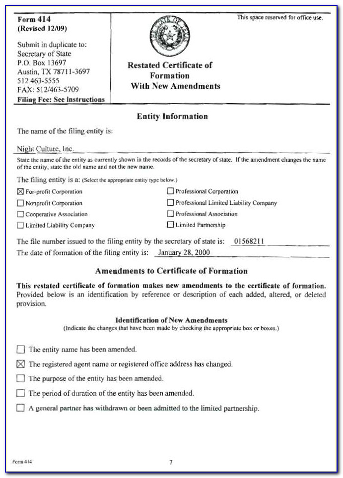 What Is A Certificate Of Formation In Florida