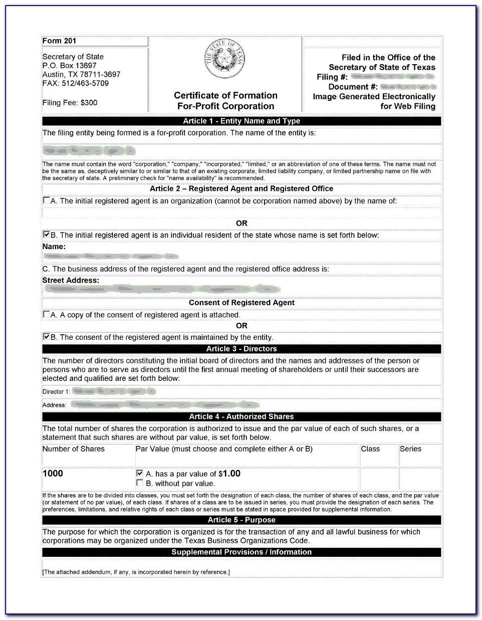 What Is A Certificate Of Formation In Texas