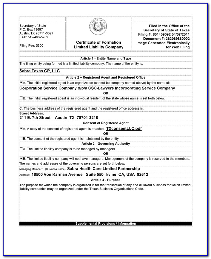 What Is A Certificate Of Formation Nj