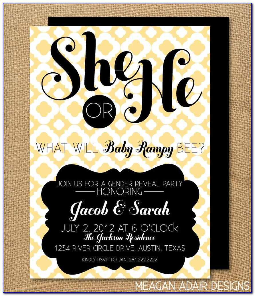 What Will The Little Honey Bee Gender Reveal Invitations