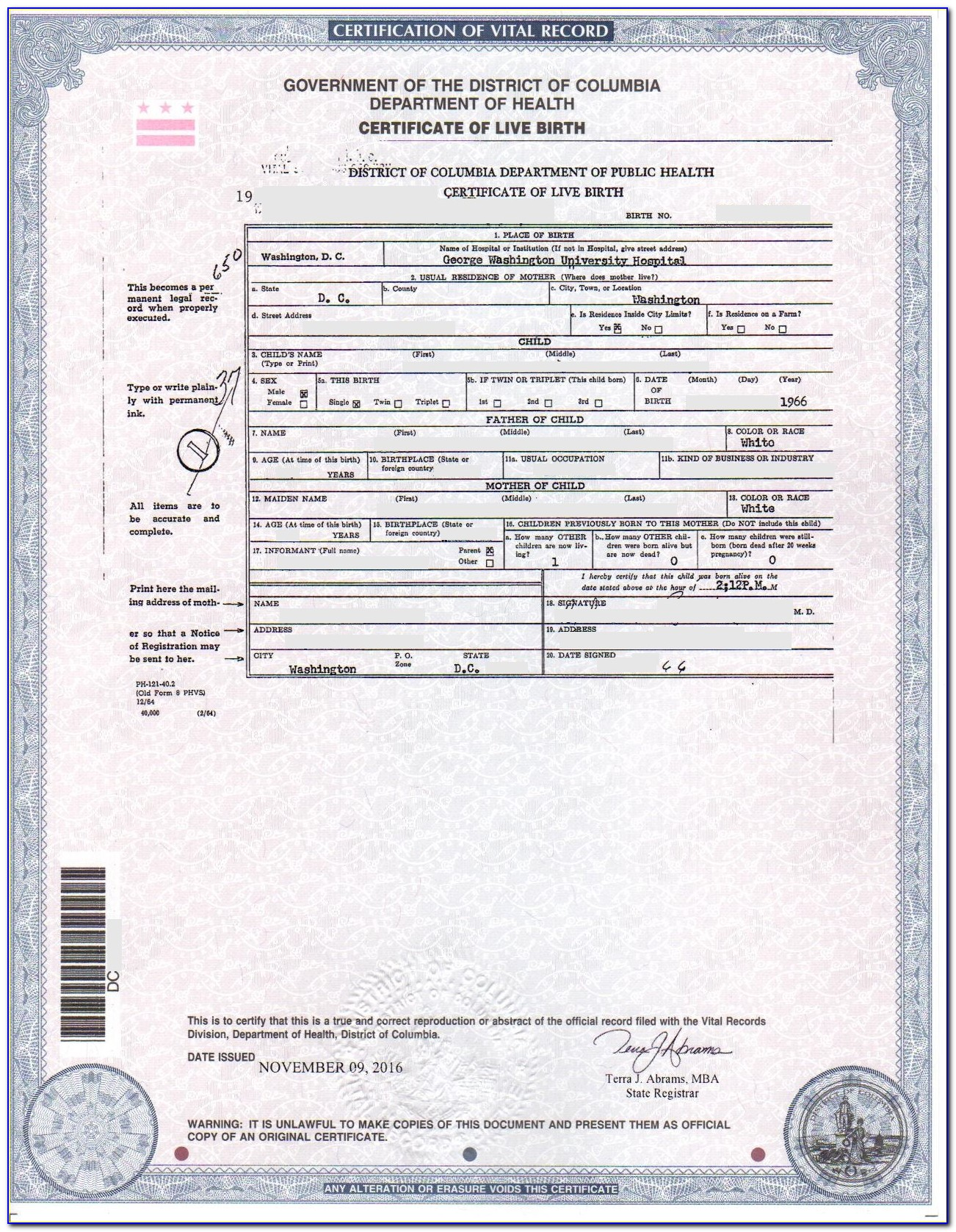 Where Can I Get A Birth Certificate In Tacoma Washington