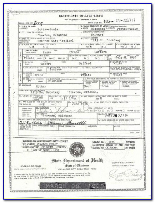 Where To Get Birth Certificate In Mcalester Ok