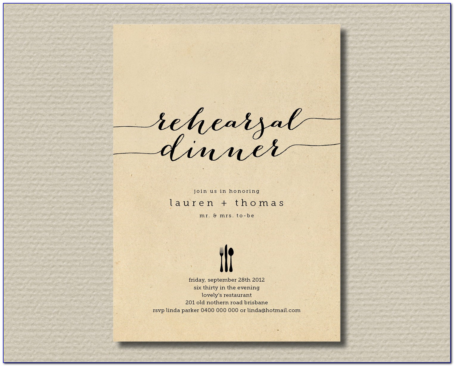 Who Is Invited To Rehearsal Dinner Etiquette