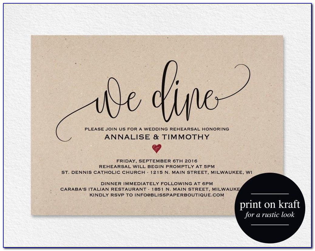 Who Is Invited To The Rehearsal Dinner Wedding Etiquette
